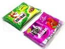 Empacado de agrupaciones de sobres de comida para animales en flow pack