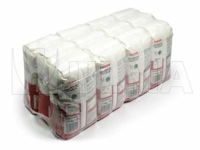 Enfajado de apilaciones de paquetes cuadrados de arroz en polietileno retráctil de baja densidad.