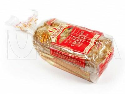 Empacado de pan de molde con cereales en flow pack (hffs)
