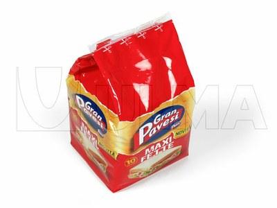 Empacado de pan de molde en flow pack (hffs)