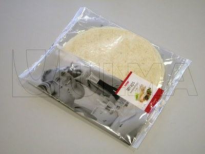 Empacado de tortillas mexicanas en flow pack