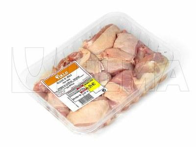 Empacado de delicias de pollo en termosellado con atmósfera modificada (MAP)