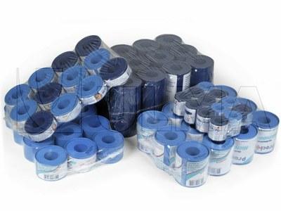 Empacado de agrupaciones de rollos de esparadrapo con film retráctil polietileno de baja densidad (LDPE)