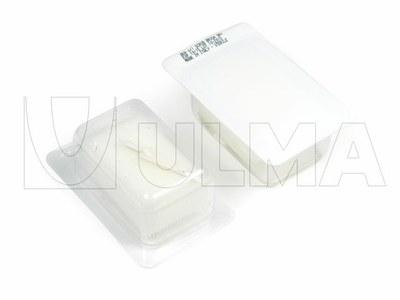 Empacado de cepillos con esponja + espátula rascadora + desinfectante povidona en termoformado en film rígido