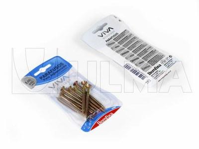 Empacado de elementos de fijación en blister con tapa de film impreso