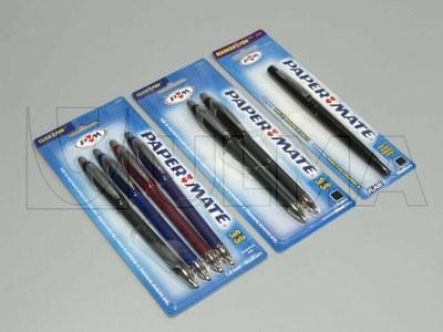 Empacado de bolígrafos en blister