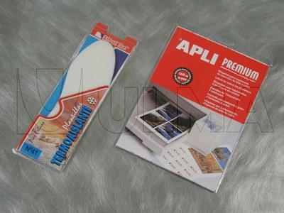 Empacado de etiquetas adhesivas en blister plástico-plástico en diferentes formatos