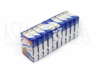 Empacado de agrupaciónes de cajas de detergente en polvo con film retráctil poliolefina
