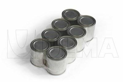 Enfajado de agrupaciones de botes de pintura y barnices con film polietileno de baja densidad (LDPE)